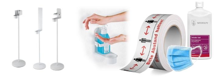Raumluftdesinfektion, Desinfektionsmittelständer, Hygiene