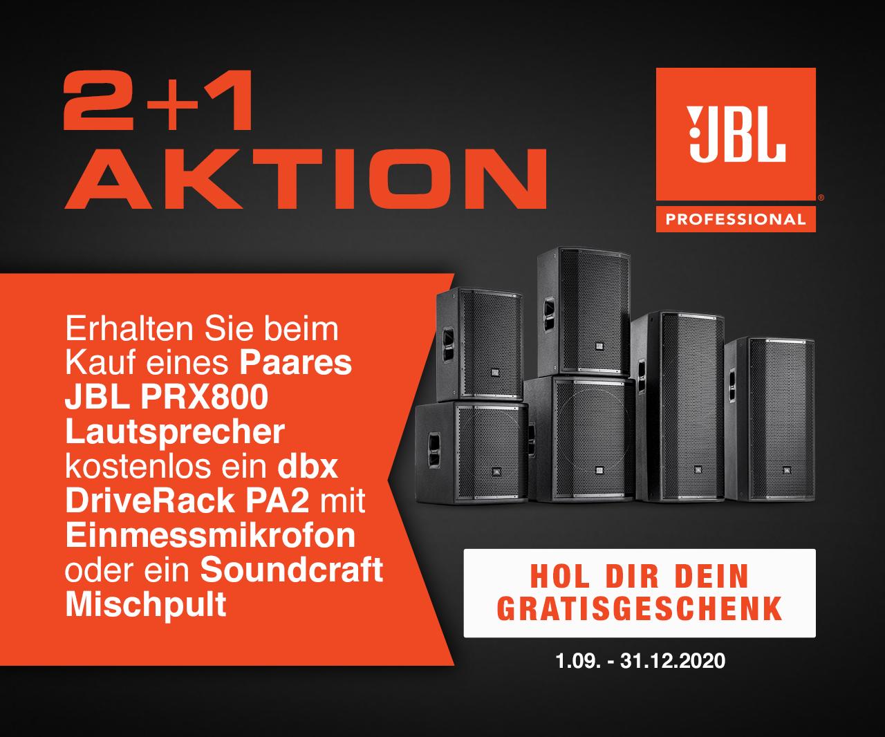 JBL PRX800 + driverack