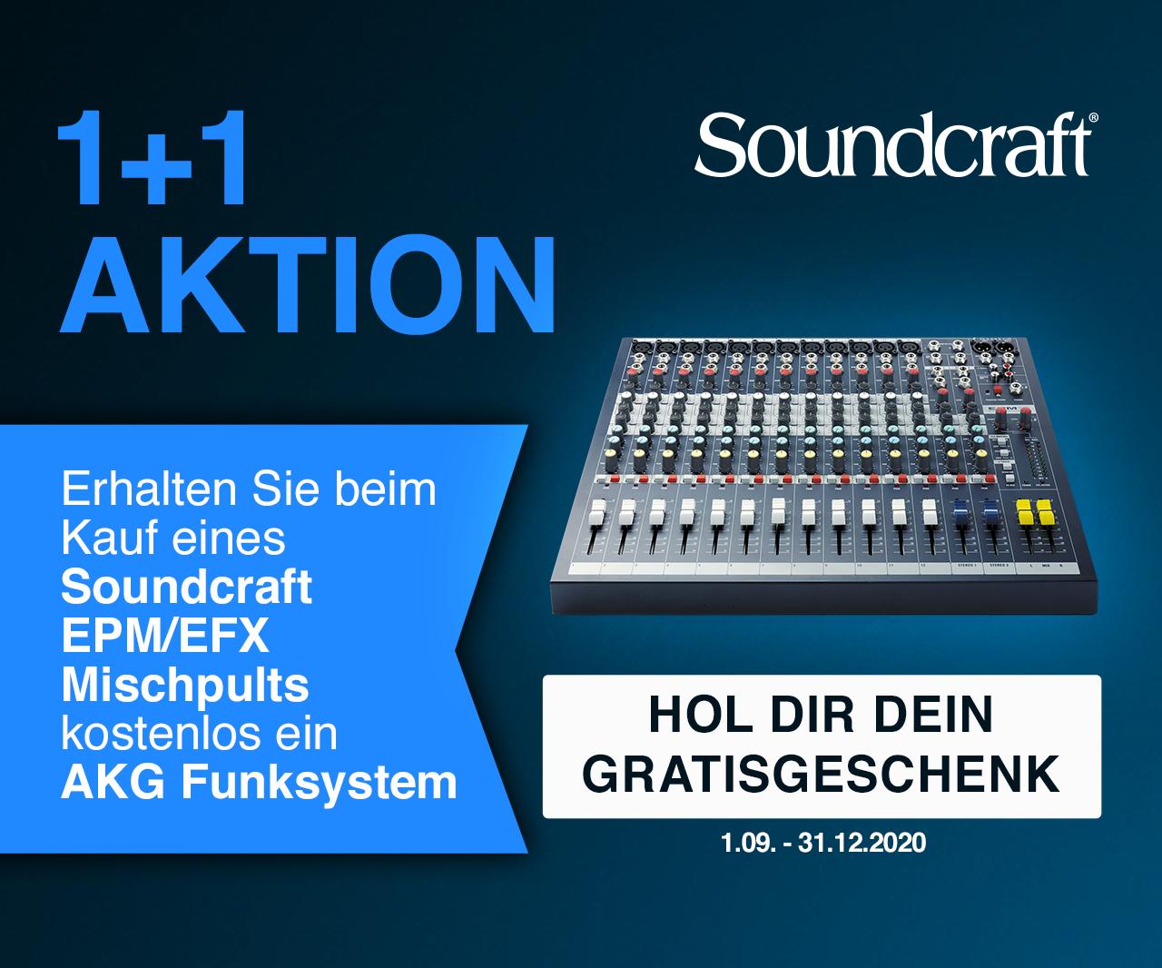 Soundcraft EPM oder EFX + AKG