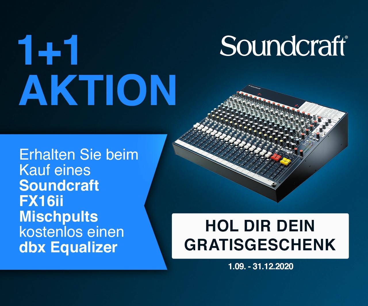 Soundcraft FX16 II + dbx