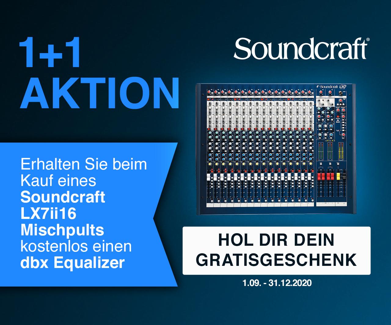 Soundcraft LX7 II 16 + dbx