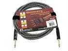 DIMAVERY Instrumenten-Kabel, 3m, schwarz/silber