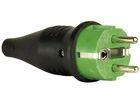 Rubber Schutzkontakt Connector Male 230V Green CEE7/VII