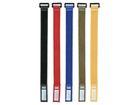DAP-Audio Klett Kabelbinder schwarz, 10 Stück Packung, 36 x 2,5 cm