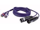 Adapter Kabel 2xXLR male auf 2x Cinch male (RCA) 3m