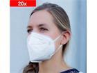 Mund-Nasen-Maske, 5-lagig, EINWEG, FFP2, komfortable Einweg-Maske, Non-sterile, 20er Set