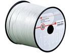 Lautsprecherkabel weiß, 100m Spule, Querschnitt 2x0,75 mm², CU