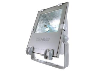 Outdoorstrahler Tec 1 150W silvergrau Rx7s