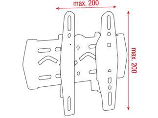 "DMT PLB-2342  -  LCD-Wandhalterung 23""-42"", max. VESA200, +5/-15°Neigbar"
