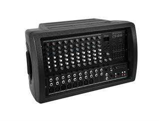 OMNITRONIC CS-816 Combo-Mischpult + Verstärker 2x350W an 4Ohm