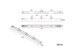 DMT P10/P6 Rigging Bar 2 for 2 pcs Pixelscreen P10/P6 Tour SMD