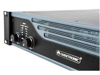 OMNITRONIC E-1200 MK2 Endstufe Stereo-PA-Verstärker mit integriertem Limiter