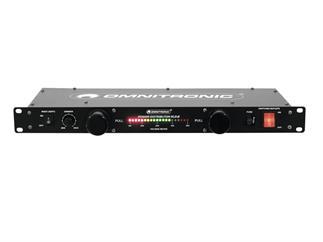 """OMNITRONIC RLD-8 19"""" Rackbeleuchtung, Stromverteiler, Voltmeter"""