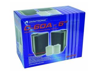 """OMNITRONIC C-60A,6"""" Box,aktiv,sw / Paar"""