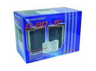 "OMNITRONIC C-80,8"" Box,weiß / Paar"
