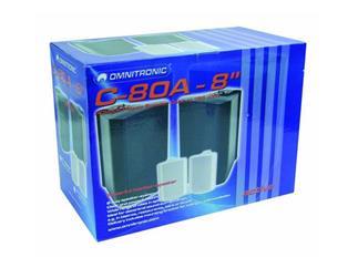 """OMNITRONIC C-80A,8"""" Box,aktiv,weiß / Paar"""