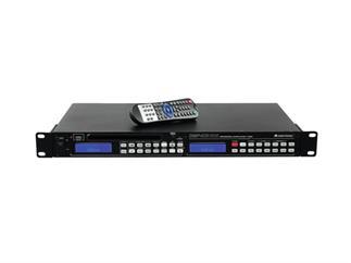 Omnitronic DMP-103RDS Mediaplayer - CD-/MP3-Player, RDS-Tuner, USB-Schnittstelle