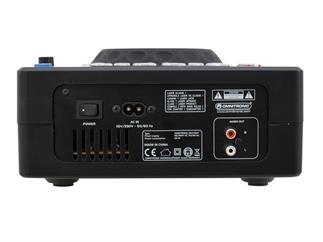 OMNITRONIC XMT-1400 Tabletop-CD-Player DJ-Workstation für CD, USB und SD