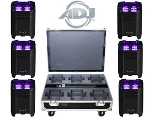 ADJ 6x Element HexIP + ADJ Touring/Charging Case