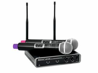 OMNITRONIC UHF-102 Funkmikrofon-System 823.5/863.1 MHz