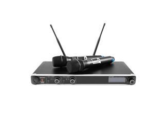 OMNITRONIC UHF-302 2-Kanal-Funkmikrofonsystem, 823-832/863-865MHz
