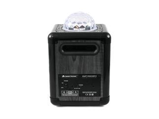 Omnitronic Partyrocker S - Mobiler Bluetooth-Lautsprecher mit integrierter Lightshow