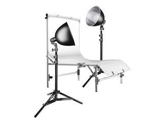 walimex Studioset Daylight 150/150 Basic+Tisch
