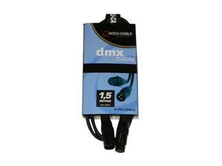 Accu-Cable AC-DMX3/1,5, 1,5m, 3-Pol DMX Kabel