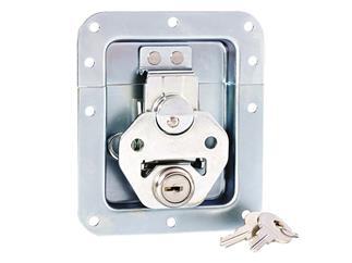 Adam Hall Hardware 17290 LS - Butterfly Verschluss mittel gefedert abschließbar ungekröpft 14 mm tief