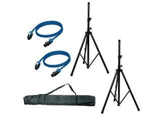 Speaker Accesory Set - SAS01 2x Boxenstativ 2x Boxenkabel und Tasche