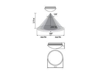 KANLUX DABA LED SMD DL-17O - LED Deckenleuchte mit Bewegungsmelder