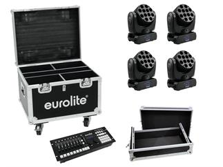 Eurolite Set 4x LED TMH-12, Controller, Cases