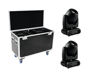 Set 2x DMH-160 LED Moving-Head + Case