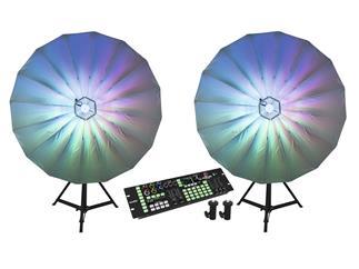 Eurolite Set 2x LED Umbrella 140 + DMX LED Color Chief + 2 Stative