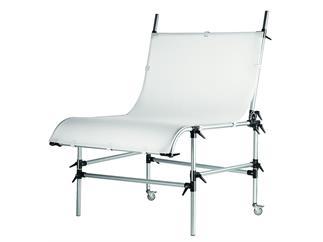 Manfrotto 220 Aufnahmetisch,Silber mit Platte,weiß