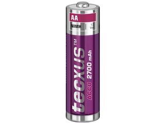 2er Pack tecxus AA (Mignon)/HR6 - 2700 mAh, Nickel-Metallhydrid Akku (NiMH), 1,2 V