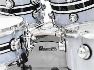 DIMAVERY DS-600 Schlagzeug-Set - Fünfteiliges Rock-Drumset mit Hardware