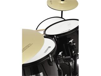 DIMAVERY DS-200 Schlagzeug-Set, schwarz