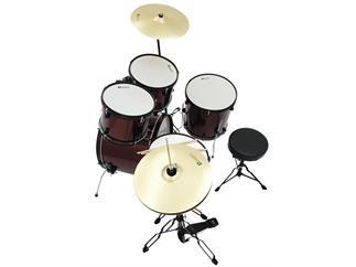 DIMAVERY DS-200 Schlagzeug-Set, weinrot