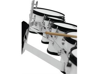 DIMAVERY MT-530 Marschtrommel-Set, weiß