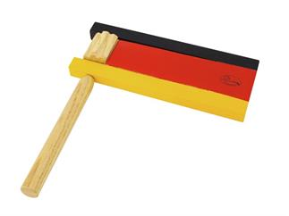 DIMAVERY Ratsche, Schwarz-Rot-Gold
