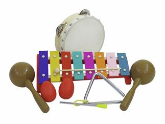 DIMAVERY Percussion-Set III, 7 Teile für Kinder