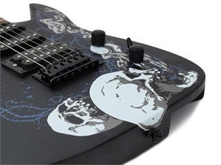 DIMAVERY FR-530 E-Gitarre, S&C, matt schwarz