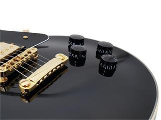 DIMAVERY LP-520 E-Gitarre, schwarz/gold