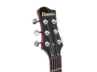 DIMAVERY BM-100 E-Gitarre Wine Red