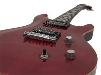 DIMAVERY DP-600 flamed rot - Modern-style E-Gitarre