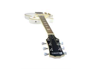 DIMAVERY LP-700L E-Gitarre, LH, weiß für LINKSHÄNDER
