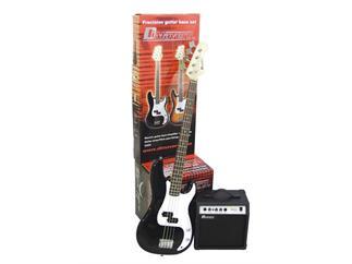 DIMAVERY BGS-10 E-Bass-Set, schwarz