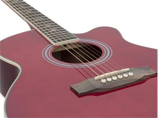 DIMAVERY JH-500 Western-Cutaway-Gitarre, rot