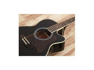 DIMAVERY JK-303E Western-Cutaway-Gitarre, schwarz